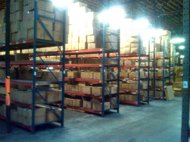 large racks and raw space
